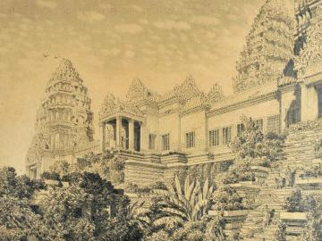 View of the Temple of Angkor-Vat, Cambodia