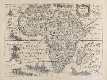 Map of Africa ( Atlas of Mercator-Hondius)