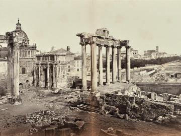 Panoramic view of the Forum in Roma