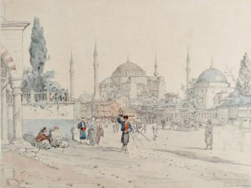 View of St Sophia, Constantinople