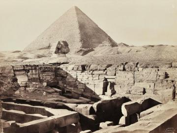 Views of Old Cairo, pyramid of Gizeh, and temple of Horus in Edfou