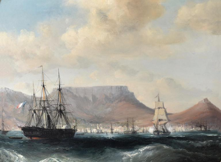 Ships off Cape Town, South Africa