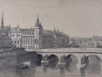 View of Paris (La Conciergerie and Pont Neuf)