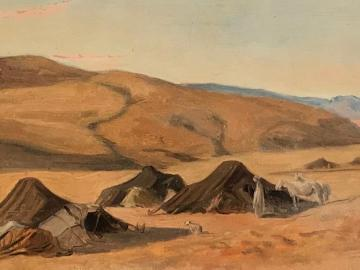 Arab camp in the Sahara