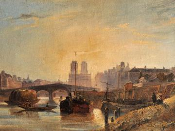 View of the chevet of Notre Dame de Paris and Pont de la Tournelle