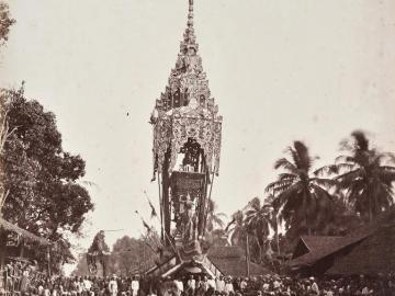 Funeral of a Buddhist Priest, Rangoon