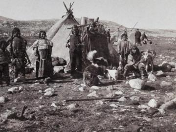 Inuit Family and their Toupiks (summer tents)