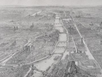 View of Paris (Ile de la Cité and Notre Dame)