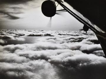Sunrise above the clouds-View from the Hindenburg