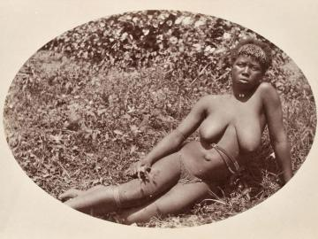Portrait of a Zulu young woman