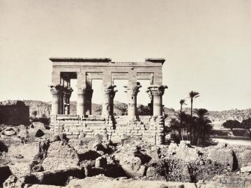 Temple at Philae, view from the side, Upper Egypt