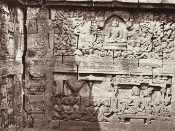 Bas-reliefs in the Ruins of Bvera Bouddha